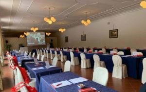 Interno del salore per eventi di Villa Cattani Stuart
