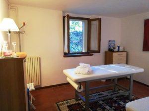 sala massaggi della bike room